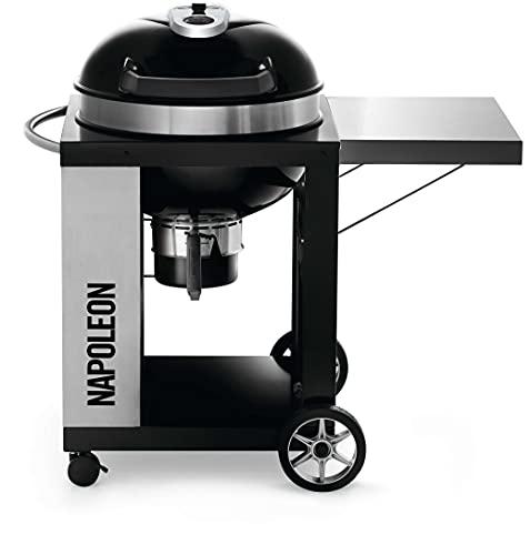 Napoleon Grills PRO22K-CART-2 PRO22KCART2 Charcoal Kettle Grill, Black