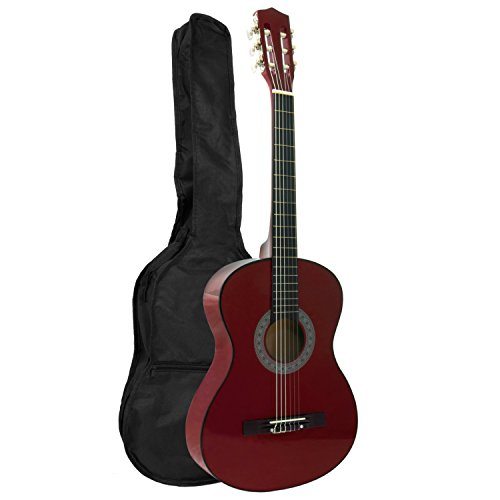 Tiger Beginner 3/4 Size Classical Guitar Pack - Red Guitar