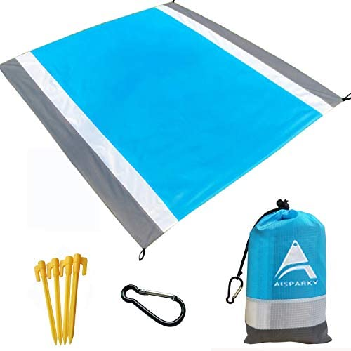 AISPARKY Beach Blanket Beach Mat Outdoor Picnic Blanket Large Sandproof Compact for 4 7 Persons product image