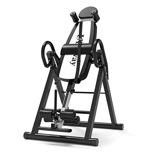 UBOWAY Heavy Duty Inversion Table - with Headrest & Adjustable Protective Belt Back Stretcher...