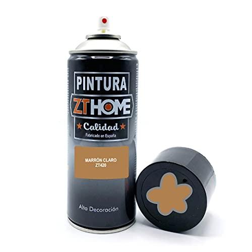 Pintura Spray Marron Claro 400ml imprimacion para madera, metal, ceramica, plasticos / Pinta todo tipo de cosas y superficies Radiadores, bicicleta, coche, plasticos, microondas, graffiti - RAL 1011