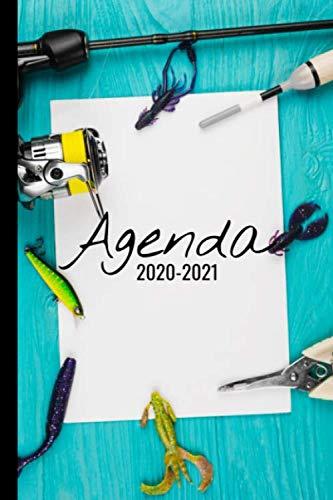 Agenda 2020 - 2021: Agenda semainier, Format A5 | Pour les étudiants, professionnels et particuliers | Calendrier, liste de contacts, ... | 140 pages ... 2020 à Septembre 2021 | Thème Pêche |