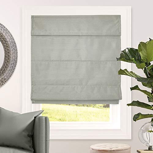 CHICOLOGY Cordless Roman Shades Lining Modern Fabric Cascade Window Blind Treatment, 48