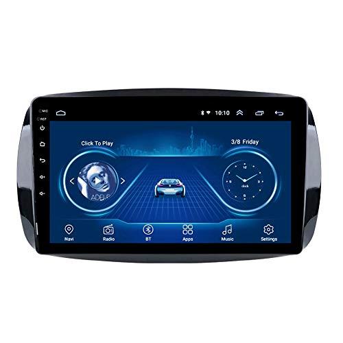 Kilcvt Multijugador De Radio EstéReo De Coche Android 10 De NavegacióN GPS De 9 Pulgadas, para Benz Smart Fortwo 2016-2018 Soporte Control del Volante/TV/BT/FM/WiFi/Bluetooth,WiFi: 2 32g