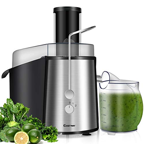 Buy Bargain COSTWAY Juice Extractor, 75MM Wide Mouth Stainless Steel Juicer Machines, 2-Speed Settin...