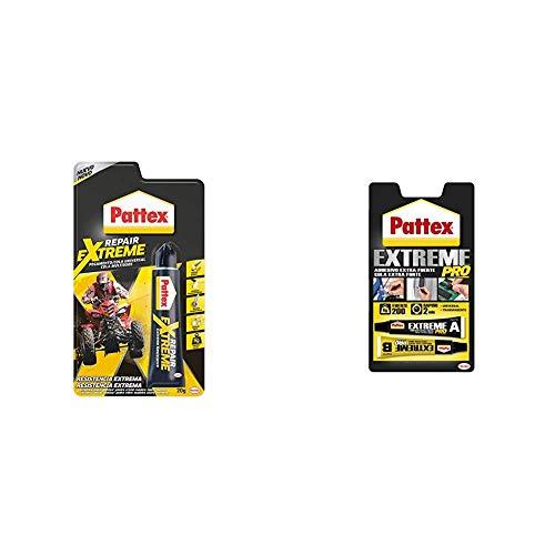 Pattex Repair Extreme, pegamento multiusos que no contrae, pegamento resistente a las vibraciones + Extreme Pro, adhesivo universal transparente