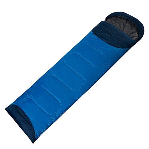 Fu Man Li Trading Company L'alpinisme en plein air camping froid peut être cousu enveloppes simples épaississant des sacs de couchage en coton A+ ( Couleur : Bleu , taille : À gauche )