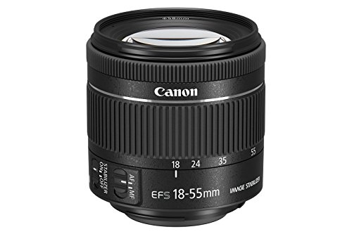 Canon EF-S 18-55 mm F4.0-5.6 IS STM lens (58 mm filterdraad) zwart