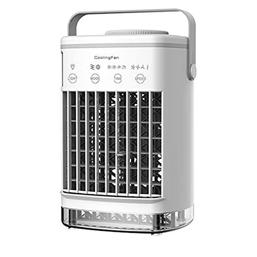 XHMJ Mini acondicionador de Aire, Material ABS, Ajuste de Velocidad del Viento de Cuatro Niveles, Fuente de alimentación USB de bajo Nivel de Ruido, Adecuado para dormito White