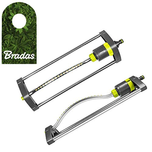 Bradas Viereckregner Rasensprenger Regner Sprinkler Messingdüsen Lime LINE LE-6303 2204
