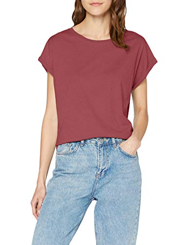 Urban Classics Damen Ladies Extended Shoulder Tee T-Shirt, cherry, L