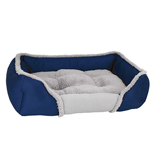 LohugoMulti-Color And Multi-Size Optional Plush Dog Bed ,Waterproof And Non-Slip, Removable And Washable To Keep Warm All Seasons Dog