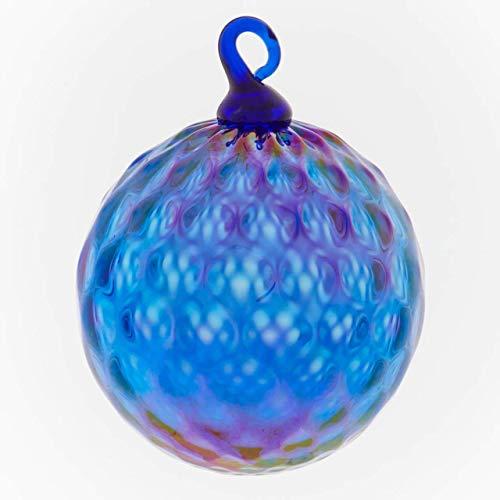Glass Eye Studio September Blue Diamond Facet Ornament