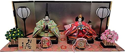 雛人形 平飾り 三五親王「小花牡丹桜」金襴敷飾り KN-H35-008