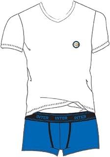 Boxer Inter Ufficiale Bambino Ragazzo Anni 10 12 14 Intimo IN055BI Completo T-Shirt