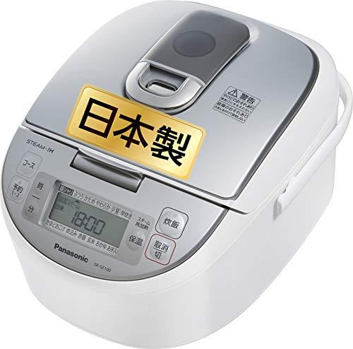 【Amazon.co.jp限定】パナソニック 炊飯器 5.5合 スチームIH式 ダイヤモンド竈釜 ホワイト SR-SZ100-W