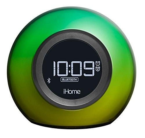 iHome IBT29 Farbwechsel, Bluetooth, FM-Radiowecker mit Doppelalarm und USB-Ladeanschluss