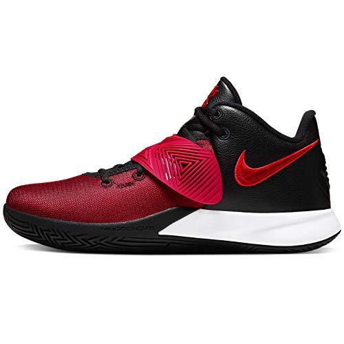 Nike Mens Kyrie Flytrap III Basketball Shoe, Black/University RED-Bright Crimson, 46 EU