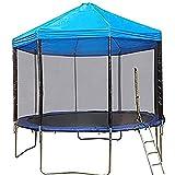 GXLO Auvent de Trampoline Couvre-lit à Ressorts Anti-Pluie sans Cadre Parasol Trampoline pour Le Soleil et la Pluie Neige