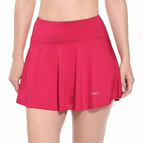 BALEAF - Falda de golf para mujer, plisada con bolsillos - Rosa - X-Small