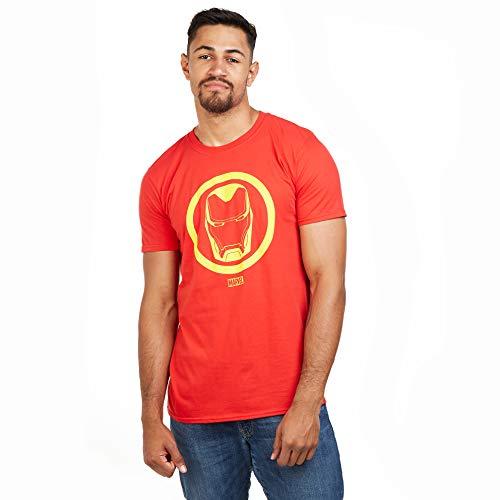 Marvel Iron Man Emblem-Mens T Shirt XXL, Rosso (Red Red), XX-Large Uomo
