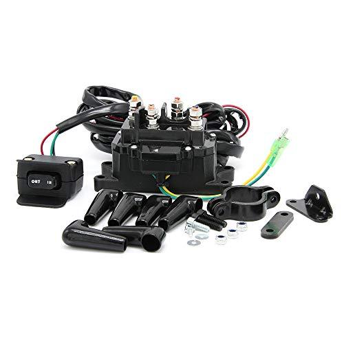 12V 250A Solenoid Relay Contactor & Winch Rocker Thumb Switch Combo Kit Fits for ATV UTV ATV UTV 1500lb-5000lb Polaris 800 1000 Replaces # 63070,62135, 74900, 2875714, 70715