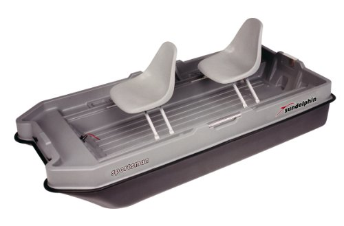 Lowest Prices! Sun Dolphin Sportsman Fishing Boat (Gray/Black, 8.6-Feet)