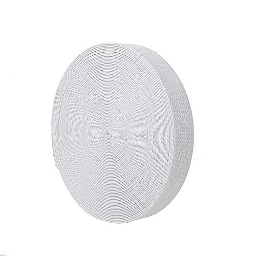 NW Elastic Bands Spool Sewing Band Flat Elastic Cord (White, 3/4 Inch)