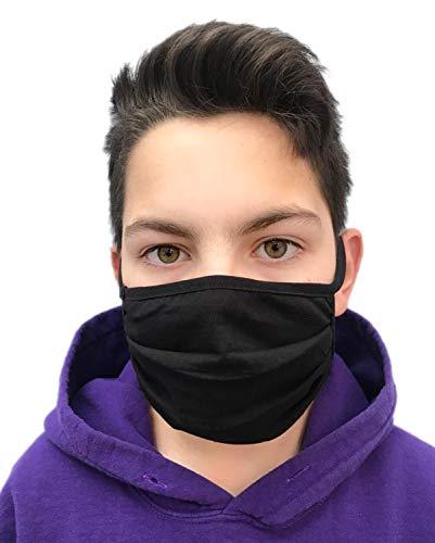 GymStern Behelfsmaske Erwachsene Baumwolle bis 60°C waschbar sofort lieferbar in Schwarz oder Weiß | ML111105 Farbe Schwarz