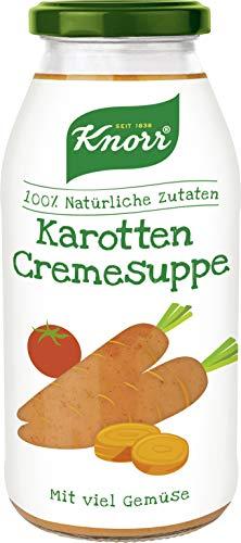 Knorr Karotten Cremesuppe im Glas, vegetarisch und glutenfrei, 3er Pack (3 x 450 ml)