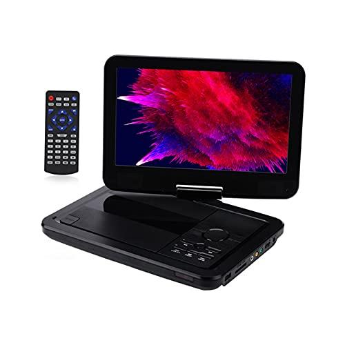 YICHEN Reproductor de DVD portátil de 10 '' Reproductor de DVD para niños/Ancianos Admite Tarjeta SD USB/AV IN/out, región Libre