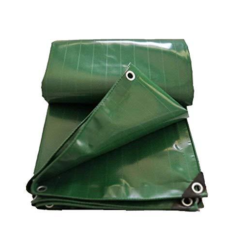 YUMUO Cubierta Externa para Cortinas de Playa con Toalla de Playa Lona compacta Impermeable a Prueba de Arena paño para Camping Ligero y portátil (Color: Verde Dimensiones: 4 * 6 m)