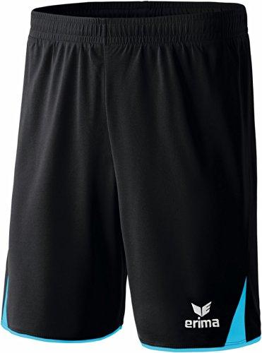 Erima Erwachsene Classic 5-C Shorts, schwarz/Curacao, L