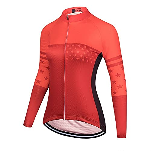 TRIATHLON Damen Radfahren Kleidung Versand Sommer Bike MTB Uniform Jersey Langarm Radfahrenhemd (Color : 3453, Size : L)