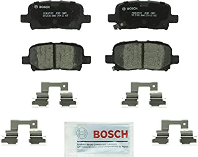 Bosch BC865 QuietCast Premium Ceramic Disc Brake Pad Set For: Acura MDX; Honda Odyssey, Pilot, Rear