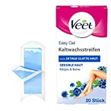 Veet Easy-Gelwax Technology - Tiras de cera fría para piernas y cuerpo para todo tipo de pieles