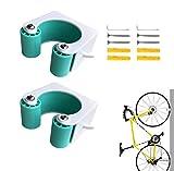 EWENYS - Mini supporti da parete per bicicletta, fibbia per riporre la bicicletta, staffa per montaggio a parete, per uso domestico e in garage, facili da installare, 2 pezzi