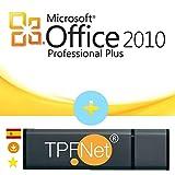 MS Office 2010 Professional Plus 32 Bits y 64 Bits - Clave de Licencia Original con una Memoria USB de - TPFNet