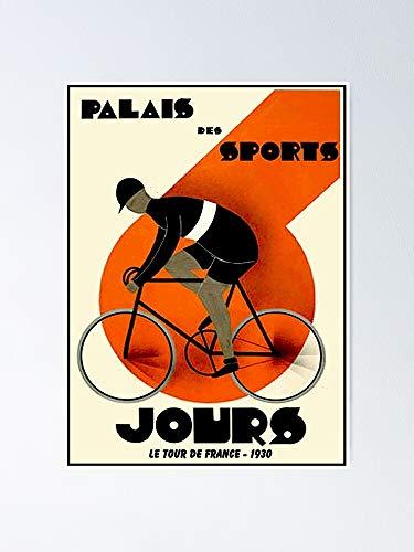 AZSTEEL Póster, diseño vintage de Palais Des Sport de 1930 Tour de Francia