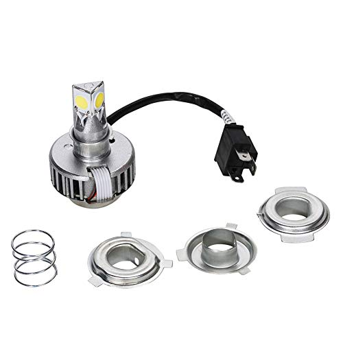 SaferCCTV H4 LED Headlight Bulbs, Motorcycle LED Headlight Bulb with High Low Beam Compatible with Electra Glide, Ultra Classic, Ultra Limited, Touring, FLH, FLHX, FLHRS, FLHTC, Yamaha Motorcycle