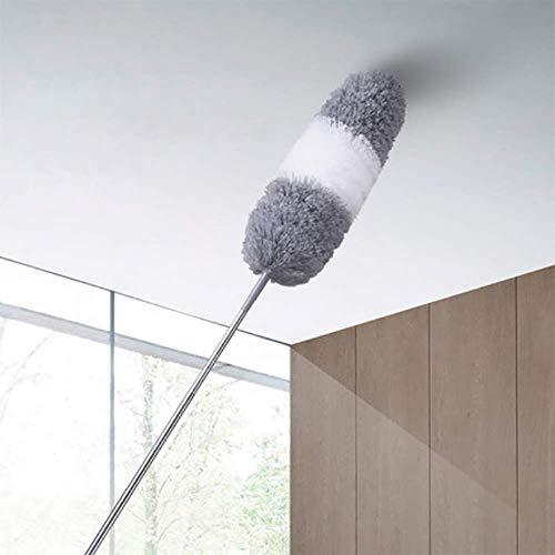 ZXWNB Pluma De Pollo Manta Zen Colector De Polvo Barrido De Polvo Doméstico Techo Retráctil Araña Telaraña Artefacto Plumero