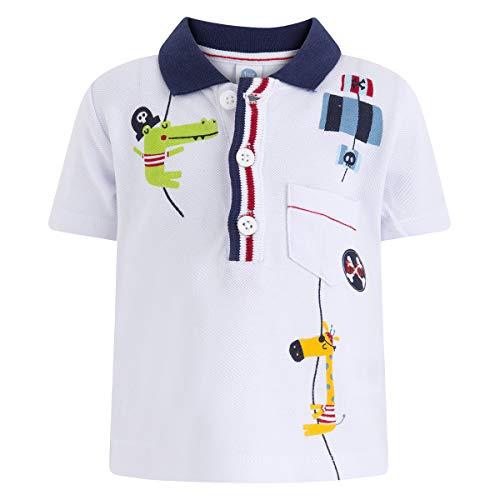Tuc Tuc Tuc Tuc Baby-Jungen Polo PIQUÉ NIÑO Pirates Poloshirt, Weiß (Blanco 5), 62