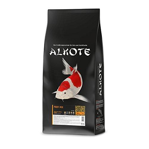 AL-KO-TE, 3-Jahreszeitenfutter für Kois, Frühjahr bis Herbst, Schwimmende Pellets, 3 mm, Hauptfutter Profi Mix, 13,5 kg
