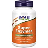 NOW Supplements, Super Enzymes, Formulated with Bromelain, Ox Bile, Pancreatin and Papain, Super Enzymes,90 Capsules