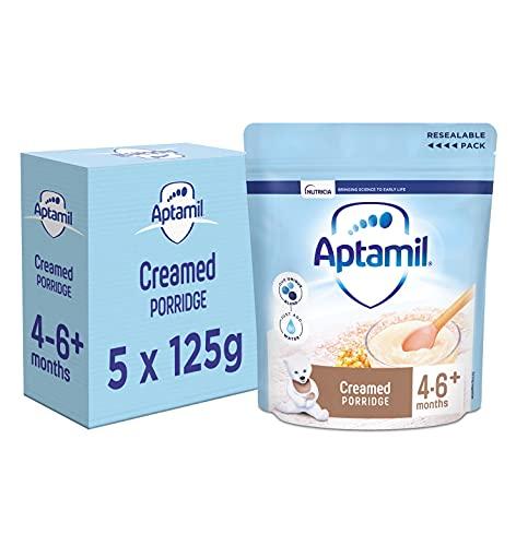 Aptamil Creamed Porridge Baby Food Cereal, 4-6+ Months, 125 g, Pack of 5