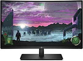 HP 27-inch Curved 144hz Gaming Monitor with AMD Freesync Technology, Tilt Adjustment and Anti-Glare Panel (HP 27x Curved...