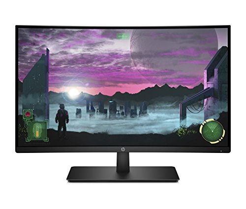 HP 27x Curved (27 Zoll / Full HD) Gaming Monitor (AMD FreeSync, DisplayPort, HDMI, Audio Out, 1920 x 1080, 144Hz, Reaktionszeit 5ms)