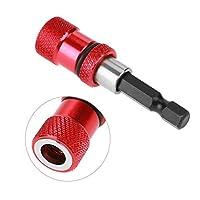 """1/4""""六角シャンククイックリリース磁性ステンレス鋼素材赤いドリルビットホルダードライバーエクステンションクロームバナジウム(60-100-150)"""