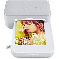 HP Sprocket Studio - Impresora (300 PPP, Bluetooth 5.0, Tecnología de Sublimación del Color), Blanco