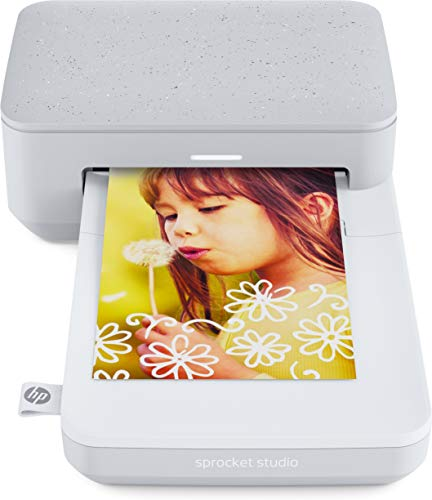 HP Sprocket Studio - Impresora (300 PPP, Bluetooth 5.0, Tecnología de Sublimación del Color), Blanco